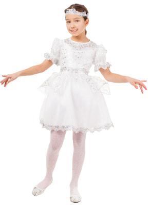 Фото Костюм Снежинка в платье детский
