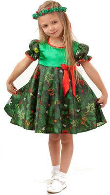 Фото Костюм Ёлочка в платье детский