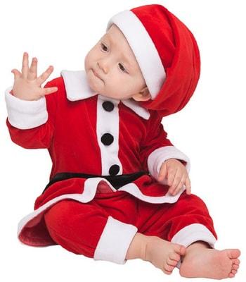 Фото Костюм Санта Клаус для малышей детский