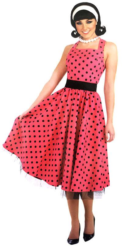 8d6d8156ebe0839 Костюм Стиляга (платье в горох) взрослый f65349 купить в интернет ...