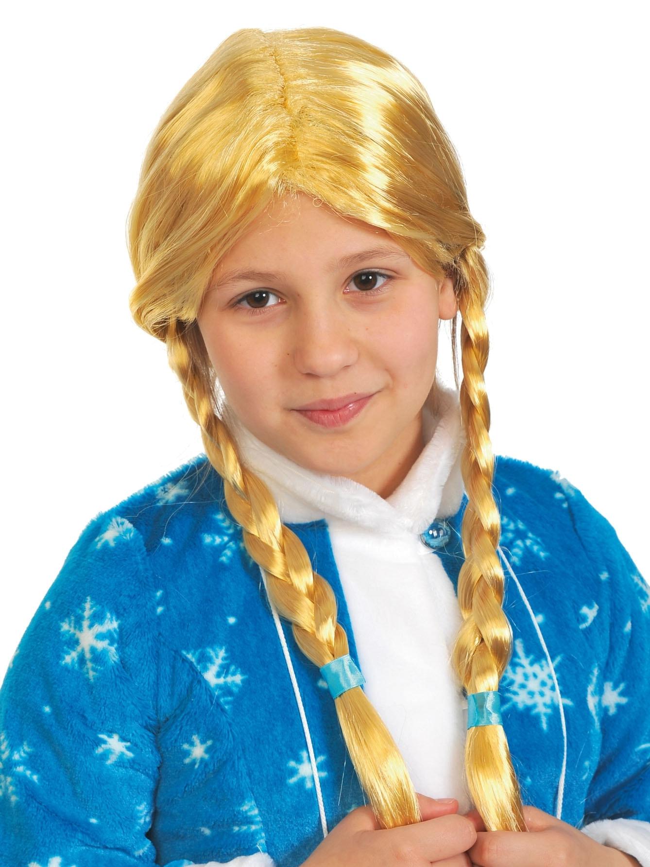 Парик Снегурочка с косами взрослый