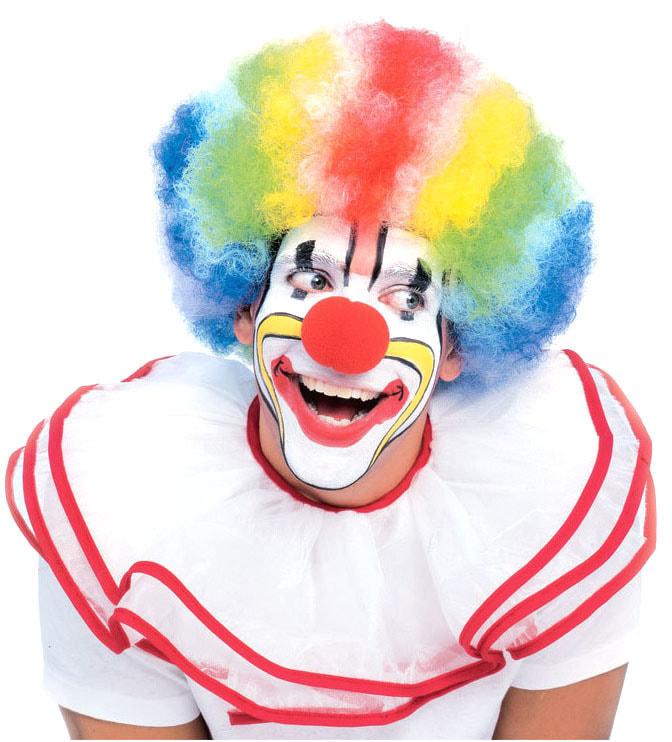Клоунский парик Мультиколор взрослый