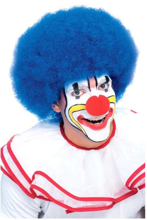Синий клоунский парик взрослый