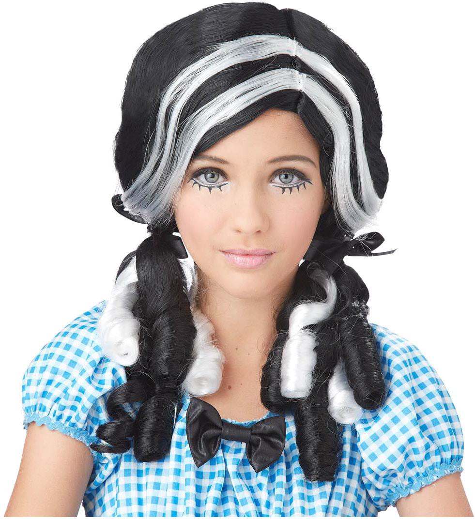 Парик Черно-белая куколка взрослый