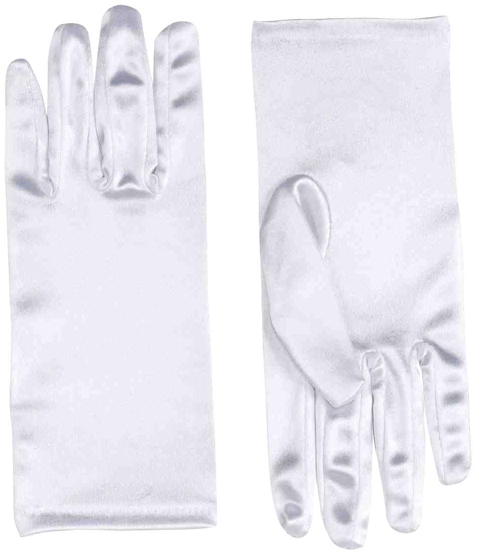 Перчатки короткие белые