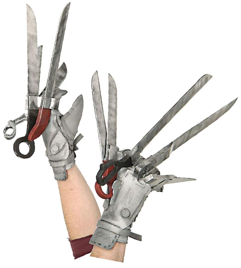 Перчатки Эдвард-руки-ножницы deluxe взрослые