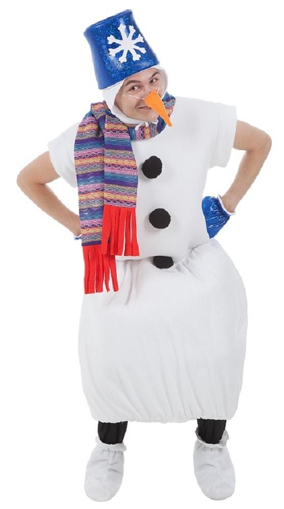 Костюм Снеговик с синим ведром взрослый p0089 купить в интернет ... b7c1c09e4e090
