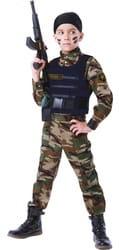 Фото Костюм Спецназовец с автоматом детский