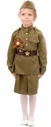 Фото Детский костюм солдата для девочки