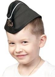 Фото Пилотка ВМФ с кантом черная