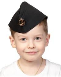 Фото Пилотка ВМФ чёрная детская
