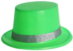Фото Цилиндр зеленый с серебряной окантовкой
