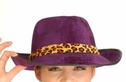 Шляпа гангстера (фиолетовая)