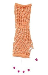 Фото Оранжевые ажурные перчатки