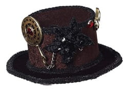Фото Мини-шляпка в стиле стимпанк взрослая