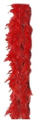 Фото Боа карнавальное (красное)