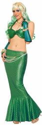 Фото Хвост русалки длинный зеленый