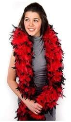 Фото Боа карнавальное (красное, черное)