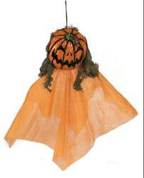 Фото Декорация подвесная голова Ужасная тыква