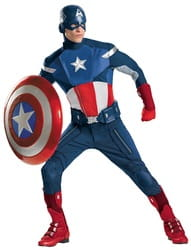 Фото Костюм Капитан Америка (большой размер) взрослый