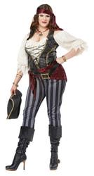 Фото Костюм Бесстыдная пиратка взрослый большой размер