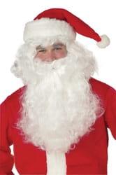 Фото Пышный парик и борода Санта Клауса взрослый