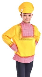 Фото Картуз желтый детский