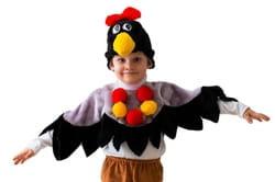 Фото Костюм Ворона в шапке детский