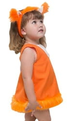 Фото Костюм Белочка для малышей детский