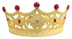 Фото Корона Царица золотая детская