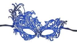 Фото Ажурная маска Загадка (синяя)
