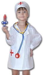 Фото Костюм Доктор в шапочке детский