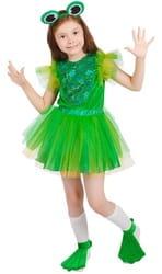 Фото Карнавальный костюм детский Лягушка девочка зелёный