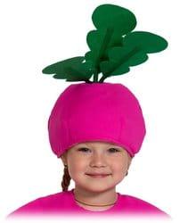Фото Шапочка Редиска розовая детская