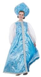 Фото Костюм Снегурочки в бирюзовом платье взрослый