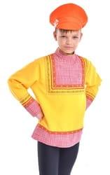 Фото Картуз оранжевый детский