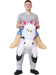 Фото Костюм надувной Всадник на белой лошади взрослый