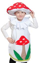 Фото Костюм Гриб мухомор в шапочке детский