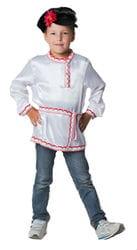 Фото Косоворотка белая для мальчика детская