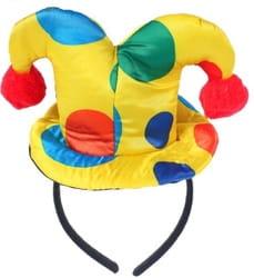 Фото Ободок с бубенцами Клоун детский