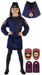 Фото Костюм Полицейская в юбке детский