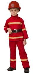 Фото Костюм Пожарный в каске детский