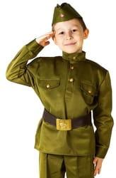Фото Костюм Солдат с пилоткой люкс детский