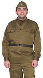 Фото Костюм Солдат (гимнастерка, пилотка, ремень) взрослый