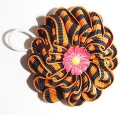 Фото Резинка георгиевский цветок