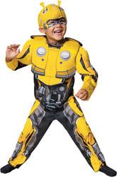 Фото Костюм Автобот Бамблби с мускулами (Трансформеры) детский