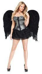 Фото Крылья ангела черные Люкс взрослые