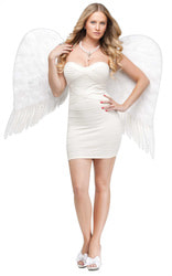 Фото Крылья ангела белые Люкс взрослые