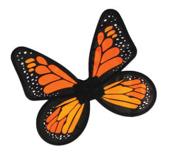 Фото Крылья бабочки (оранжевые) детские