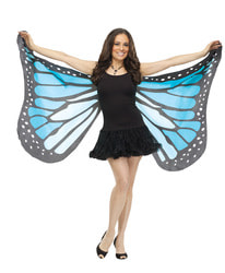 Фото Крылья бабочки (голубые) взрослые